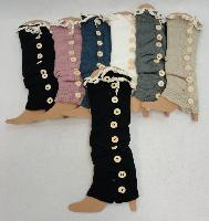 Knitted Leg Warmers [Antique Lace/9 Buttons]